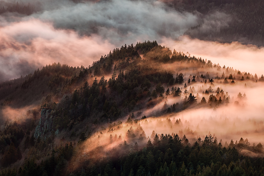 Fog flooding the valley of the Rench