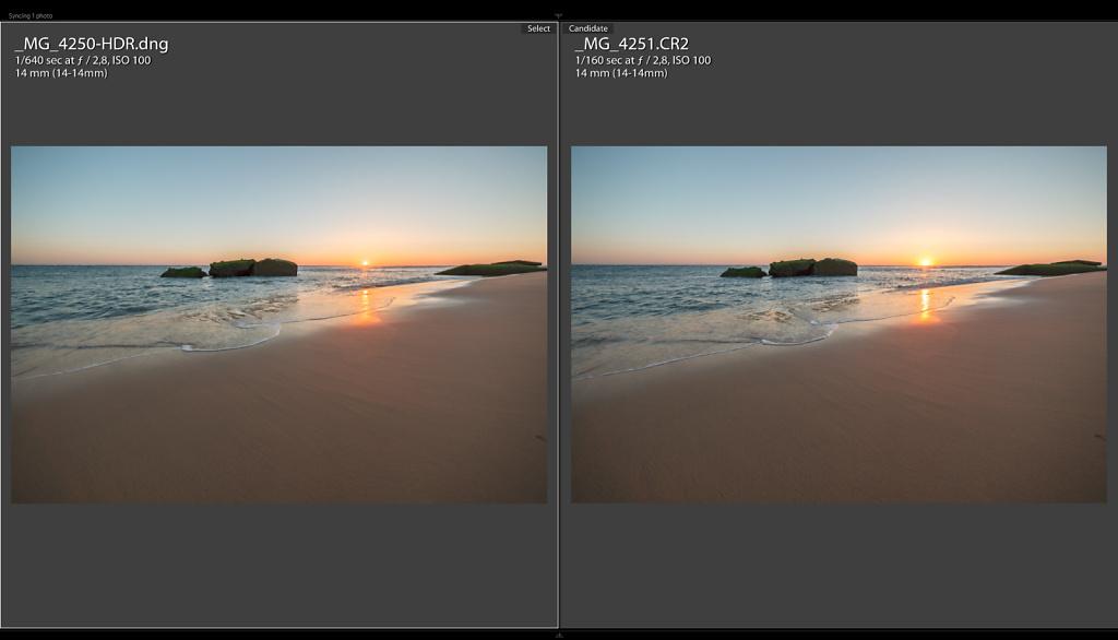 Sunset Comparision